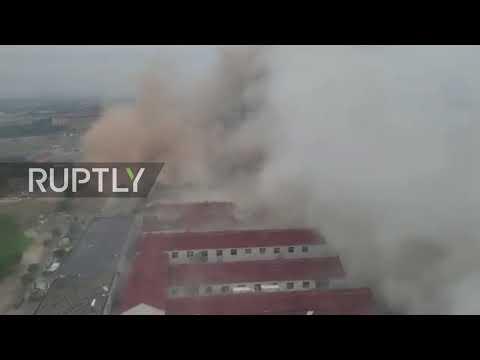 China: Huge explosion rocks Ningbo city