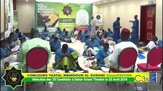 Sélection des 35 Candidats à Dakar Grand Theatre le 25 Avril 2019