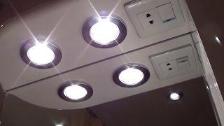 замена лампочек в ванной комнате вместе с фонарями