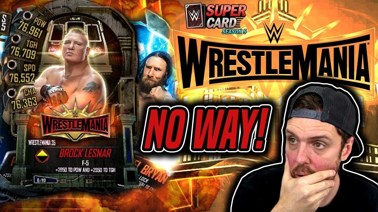 5 HUGE WrestleMania 35 PACK OPENINGS - NEW WWE SuperCard Packs + WM 35 Quests
