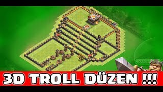 3D TROLL DÜZENE SALDIRDIM !!! (Efsane düzen) | Clash Of Clans