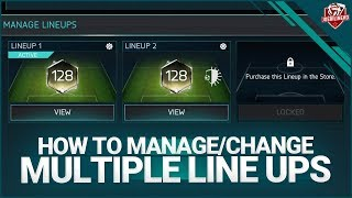 FIFA MOBILE 18 How To Use Multiple Line Up #FIFAMOBILE How to Change your Line Up LvL WT VSA