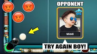 JUST WHEN I THOUGHT I WON THE POOL MATCH, THE WHITE BALL DID SOMETHING CRAZY...(biggest troll)