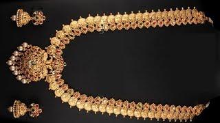 Gold Coin Lakshmi Haar Designs 2019