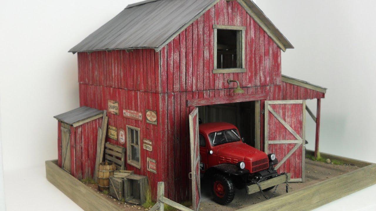 1 24 1 25 Barn Garage Diorama For Sale On Ebay