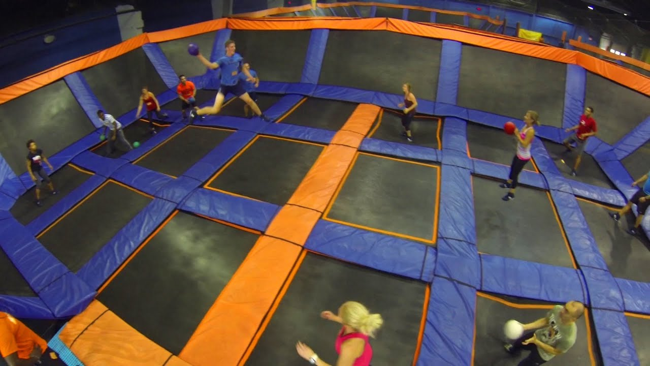 Image result for dodge ball trampoline park