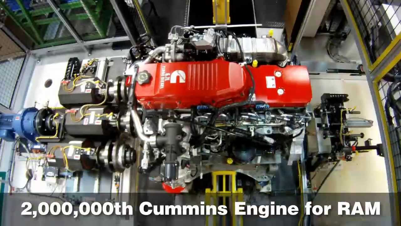 Dodge Ram Cummins >> Cummins Builds Two-Millionth Pickup Engine for Ram HD Trucks - YouTube