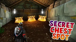*SECRET* TUNNEL CHEST SPOT FOUND IN NEW MAP * SECRET UNDERGROUND LOOT* (FORTNITE BATTLE ROYALE)