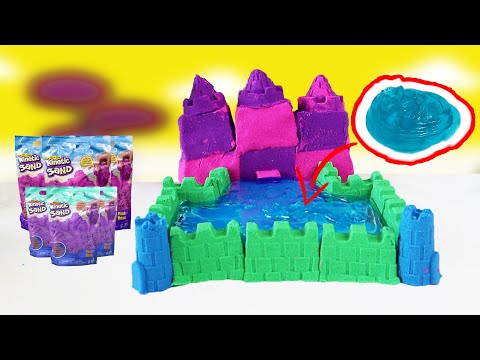 DIY Beach Castle With Kinetic Sand And Clear Slime