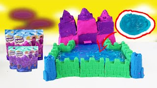 DIY How To Make a castle with Kinetic Sand and Slime