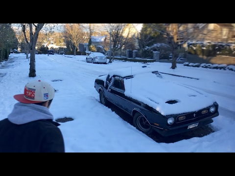 Vancouver Snow vs Muscle Cars