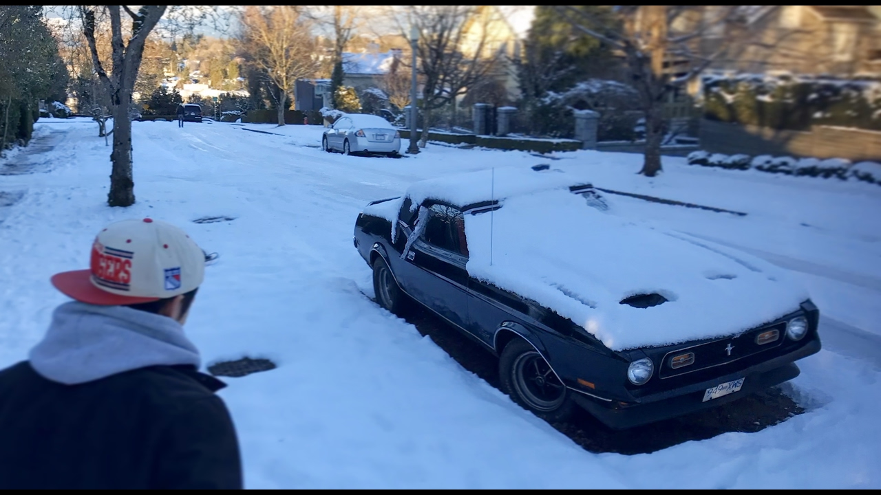 Vancouver Snow Vs Muscle Cars Youtube