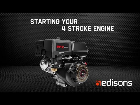 How to Start Your Baumr-AG 4-Stroke Engine - Garden at Edisons