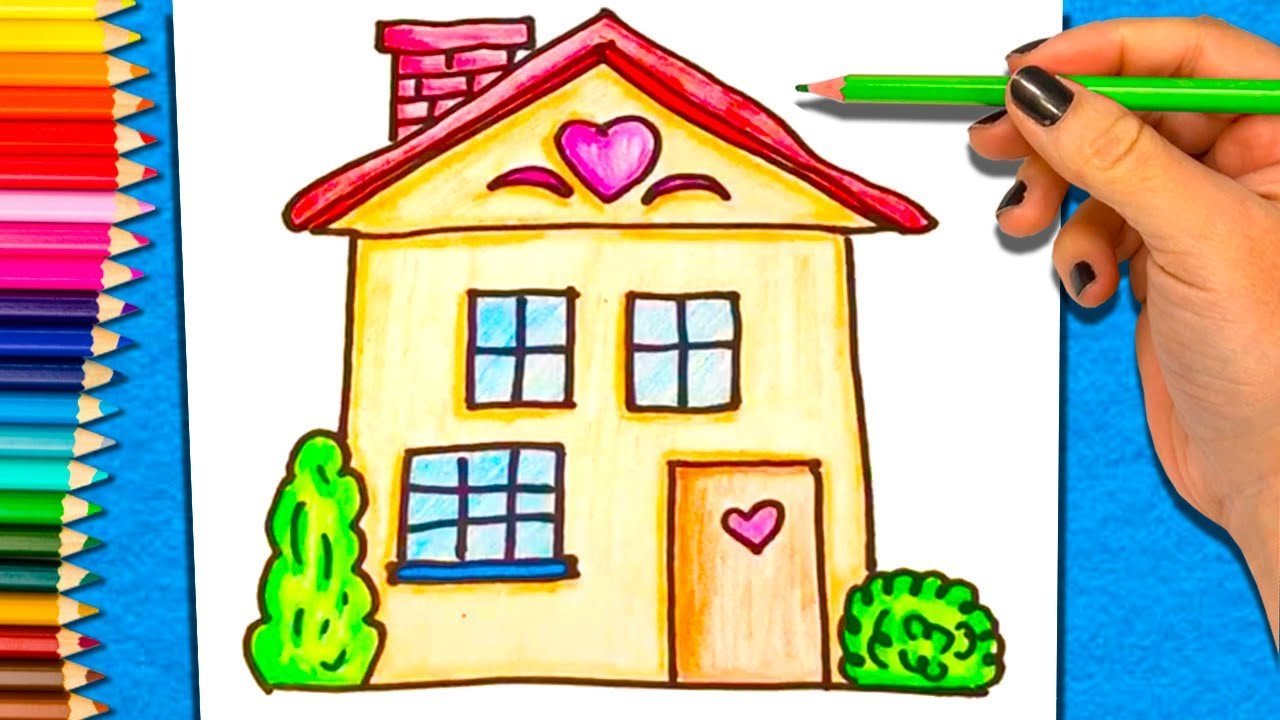 Como dibujar y Colorear una Casa | Aprender a Colorear Casa - YouTube