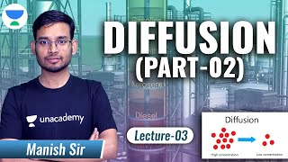 Diffusion - 2 | L:3 | Mass Transfer Operation | GATE2022 (Chemical Engineering) | Manish Sir