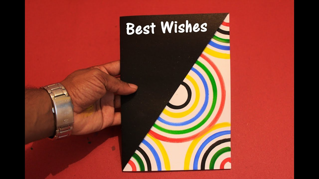 Diy how to make a greeting card 2018 rainbow greeting card diy how to make a greeting card 2018 rainbow greeting card youtube bookmarktalkfo