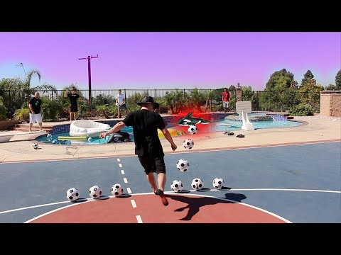 SWIMMING POOL SOCCER CHALLENGE!!!
