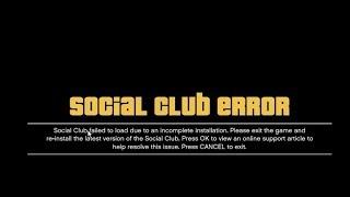 social club error GTA V fixed