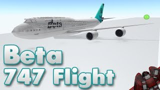 Beta Fleet 747 Flight! | Roblox