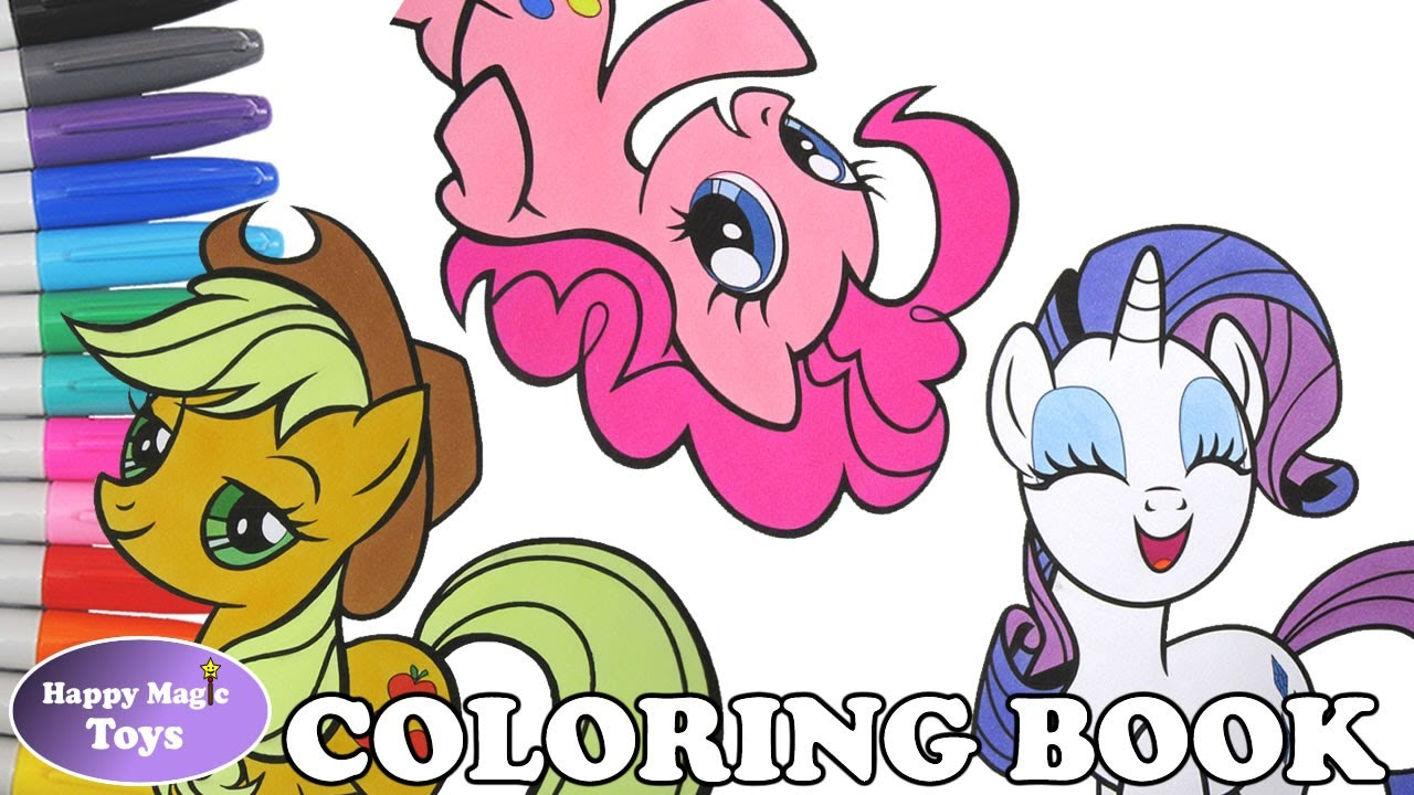 mlp coloring book pages compilation rarity applejack pinkie my