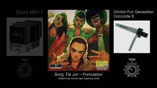 Shure M44-7 vs. Fun Generation Concorde S (Sound Quality Test, Basic DJ Setup)
