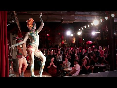 Ms. Origami performing at The Body Art Cabaret