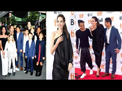 Angelina Jolie With Her Kids at Toronto Film Festival 2017 Full Video