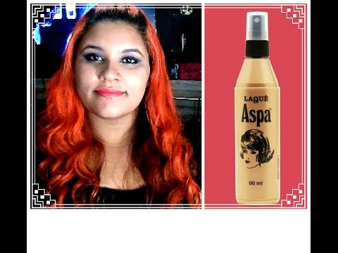 Review: Laquê liquido da Aspa / Segurando cachos de baby liss com laquê