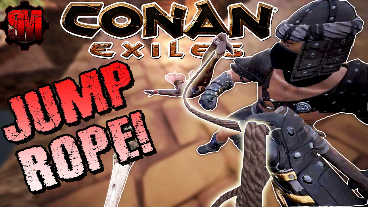 CAPTURING A THRALL! + JUMP ROPE! - Conan Exiles Online Multiplayer Gameplay  Ep4