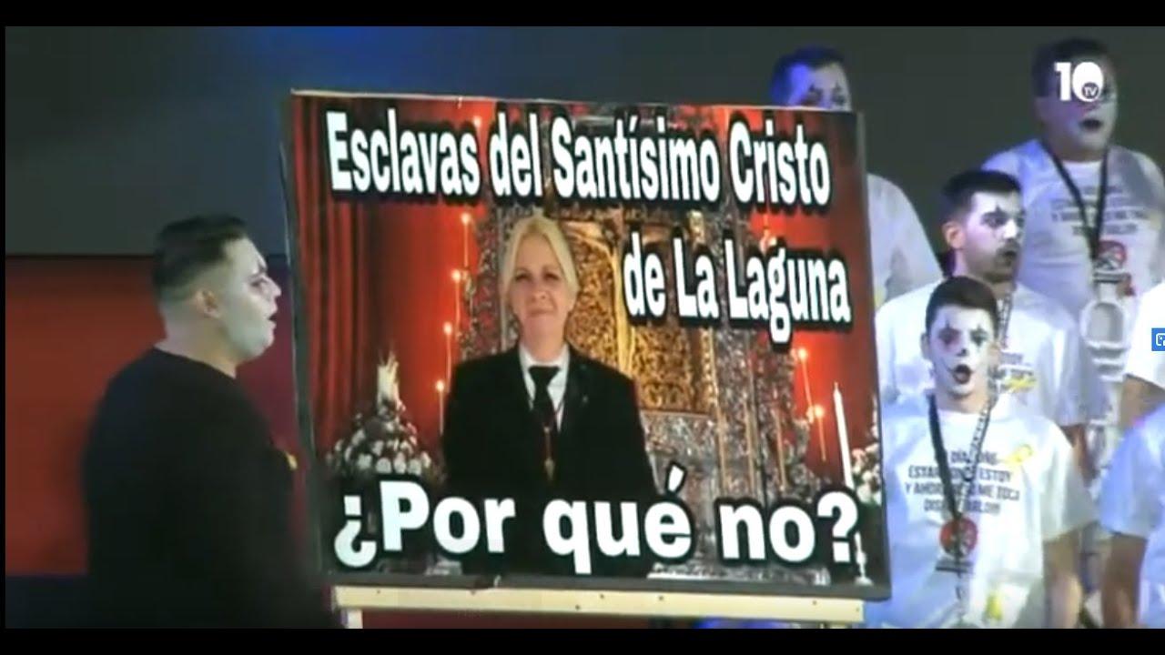 Resultado de imagen de El machismo de la Esclavitud del Cristo de La Laguna criticado en la final del XXVIII concurso de murgas del Norte de Tenerife