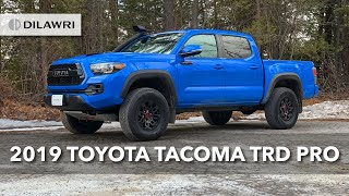 In this video, we cover the features of 2019 toyota #tacoma trd pro! mid-size pickup voodoo blue is a head-turner, especially with unique des...