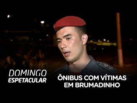 Corpo de Bombeiros localiza ônibus com vítimas em Brumadinho (MG)