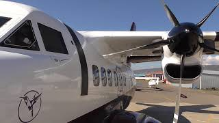 LET 410-TURBOLET REVIEW   ARRIVAL and Departure   Natakhtari Airfield UGSA