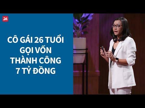 """Shark Tank Việt Nam tập 1: Cô gái 26 tuổi khiến cả 5 """"cá mập"""" giành giật, nhận đầu tư 7 tỷ"""