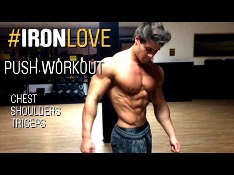 Legs/Push/Pull Routine by Jeff Seid: DAY 1 Push Workout #IRONLOVE