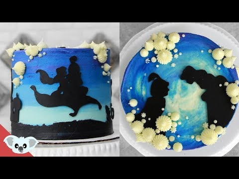 Aladdin Silhouette Cake   Disney Party Ideas   DIY & How To