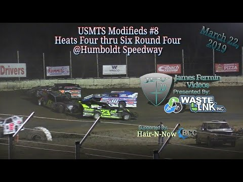 (USMTS) Modifieds #8, Heats 4-6 Round 4, Kings of the Ring, Humboldt Speedway, 03/22/19