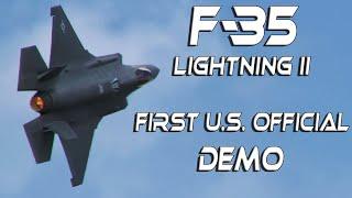 F35  RIAT2018  4K UHD F-35A Lightning II Fantastic Aggressive Flown Display.