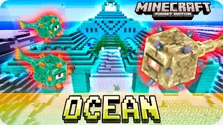 Minecraft PE Seeds - OCEAN MONUMENT at SPAWN! Water Temple Seed - 1.1 / 1.0 MCPE