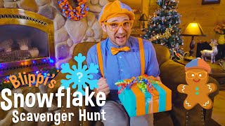 Blippi's Holiday Movie  Christmas Scavenger Hunt for Kids