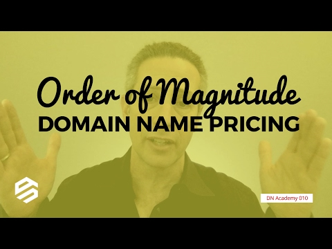 Order of Magnitude Domain Name Pricing
