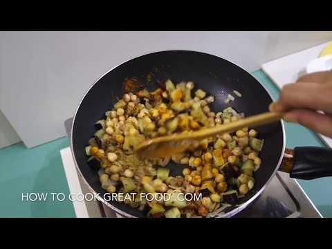 🇮🇳  Eggplant Chickpea Curry Recipe Vegan – Indian Masala