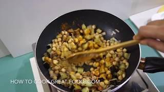 Eggplant Chickpea Curry Recipe Vegan - Indian Masala