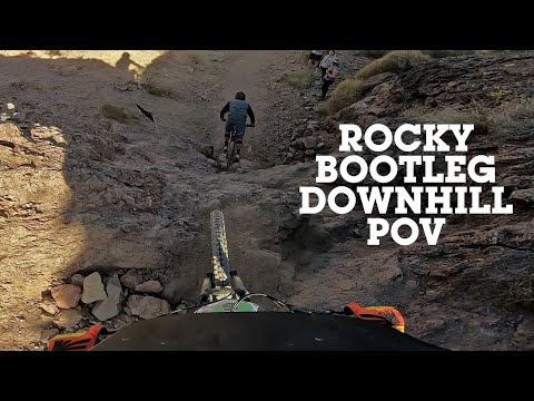 GNARLY DH POV - Super Rocky Bootleg Canyon Downhill