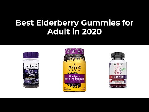Best Elderberry Gummies for Adult in 2020
