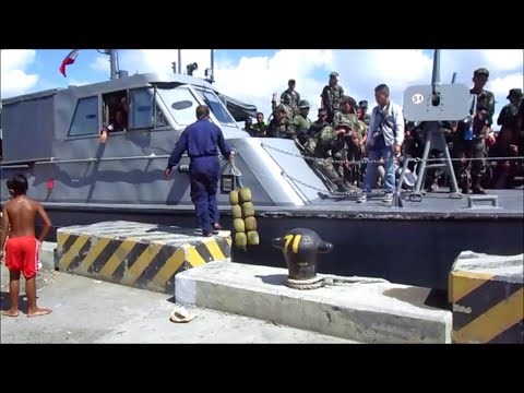 PNP ~ Philippine National Police at the Port of Iloilo City, Philippines