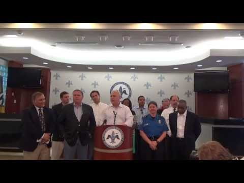 Press Conference on New Orleans Airport Security Incident