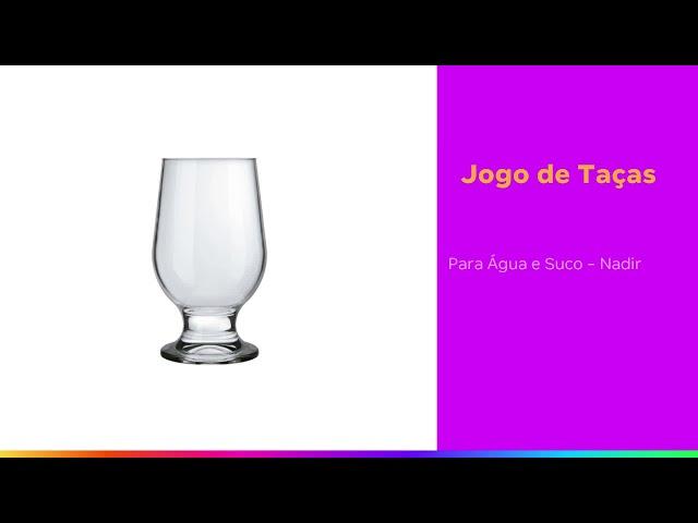 Jogo de Taças para Água e Suco de Vidro 250ml - 6 Peças Nadir Paulista