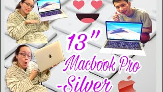 Silver 13 inch Macbook Pro Touch Bar/ID - UNBOXING & SET-UP