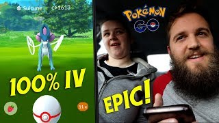 ANOTHER 100% IV SUICUNE LEGENDARY ENCOUNTER - CAN WE CATCH IT?! (POKEMON GO)